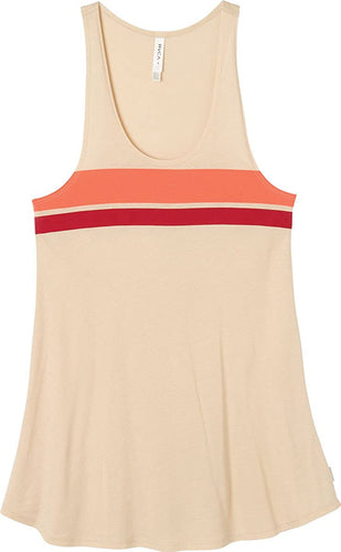RVCA Womens Reunion Tank Dress Cover-Up, (NUD) Nude