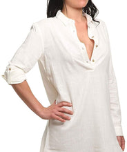 Load image into Gallery viewer, Rhythm Livin Women's Laguna Overswim Coverup, Ivory, Size Medium
