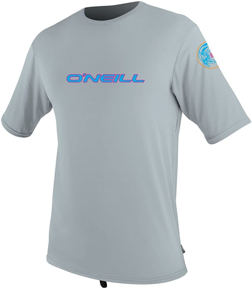 O'Neill Skins Graphic Short Sleeve Mens Rash Guard - Large/Cool Grey