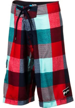 Billabong Boy's R U Serious Boardshorts, (RDB) Red/Blue, Boys Size 24/8REG