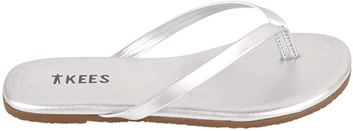 TKEES Girl's Mini Metallics Sandals, Fairylust (Silver)