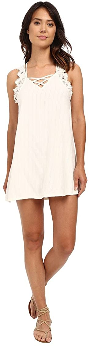 Rip Curl Juniors Everlong Dress with Lace, (VAN) Vanilla