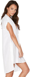 LSpace Women's Threads Tunic Swim Cover up White XS/S