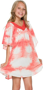 Billabong Kids Girls' Hidden Dreamer Dress Big, Hot Coral, XS (5/6 Little Kids)