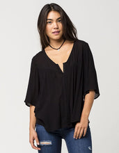 Load image into Gallery viewer, O'Neill Junior's Ramsey Woven Blouse, (BLK) Black