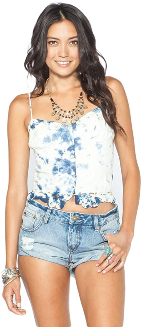 Billabong Junior's This Beach is Taken Cami Top, Blue Indigo, Medium