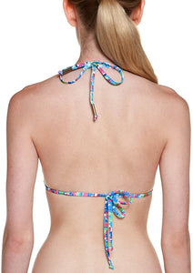 Ella Moss Juniors Savannah Tri Bikini Top, Multicolored, Size Small
