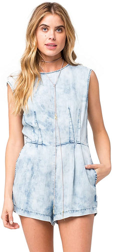 RVCA Womens Easier Said Jumper, (CHY) Chambray, Size Medium