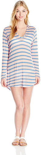 Splendid Women's Cayman Stripe Tunic Cover Up, Multi, Medium