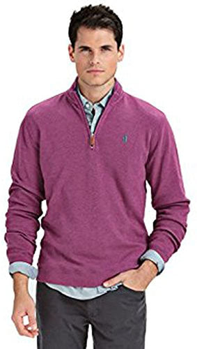 Johnnie-O Men's Newport 1/4 Zip Fleece, Mulberry, Size XX-Large