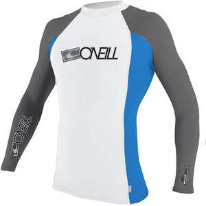 O'Neill Youth Skins Long Sleeve Crew (Metal/Crip)