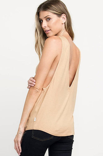 RVCA Women's Freelow Tank Top, (GOL) Gold