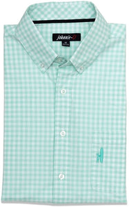 Johnnie-O The Noel Button-Down Shirt (XX-Large, Icy Mint)