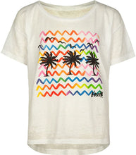 Load image into Gallery viewer, O'neill Girls Hot Summer Nights Short Sleeve Screen Tee, (WHT) White