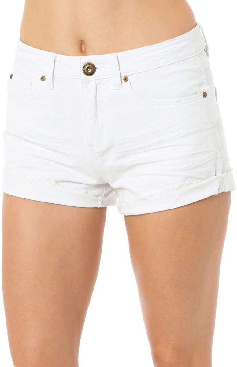 O'Neill Womens Phoebe Denim Short, (WHT) White, Size 5