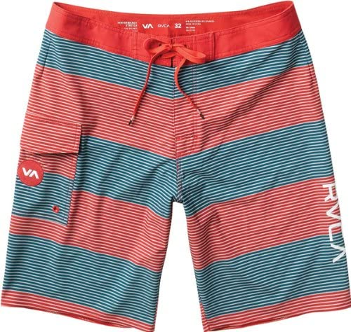 RVCA Boy's Civil Stripe Boardshorts, (MID) Midnight, Boys Size 25