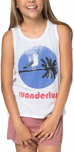 O'Neill Girls Wander Time Tank, (WHT) White