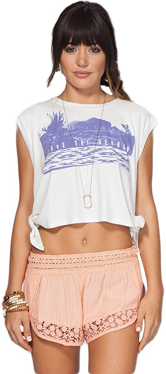 Rip Curl Womens Live The Search Top Shirt, (WHI) White