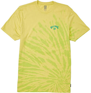 Billabong Men's Arch Tie-Dye Shirts,Medium,Light Lime