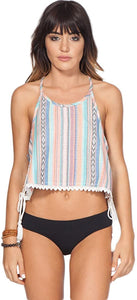 Rip Curl Womens Carmenita Tank Shirt, (MTC) Multicolored, Size Medium