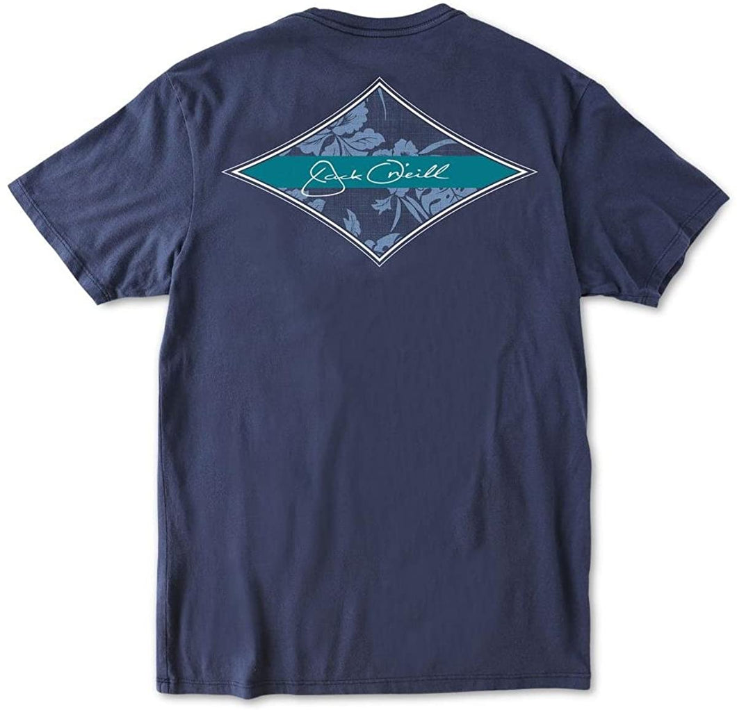 O'NEILL Jack Men's Leeward Graphic-Print T-Shirt (Navy, Small)