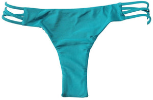 Amuse Society Juniors Serena Solid Everyday Bikini Bottom, Turquoise, Size Small