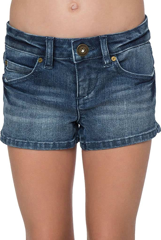 O'NEILL Girls' Monique Denim Short, (BLO) - Indi Surf