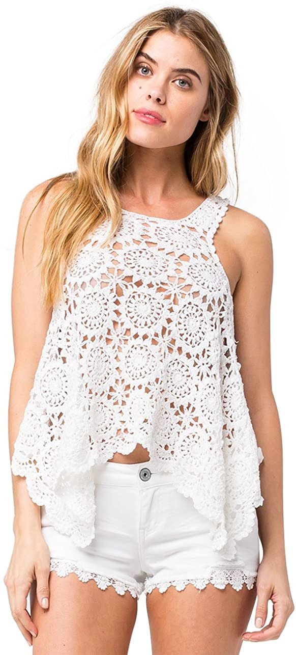 O'Neill Juniors' Mary Jane Crochet Swing Tank Top