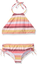 Load image into Gallery viewer, Billabong Girls' Girls' Ray Of Sun High Neck Reversible Swim Set