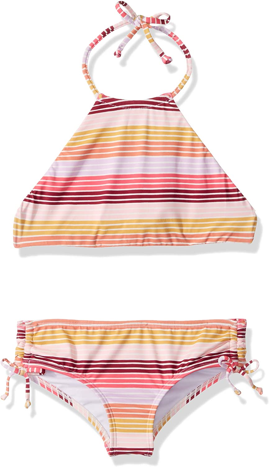 Billabong Girls' Girls' Ray Of Sun High Neck Reversible Swim Set