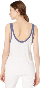 RVCA Women's Peace Off Tank Top, WHT