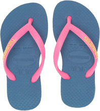 Load image into Gallery viewer, Havaianas Girls Slim Flip Flop Sandals, Logo Pop Up, (Toddler/Little Kid)