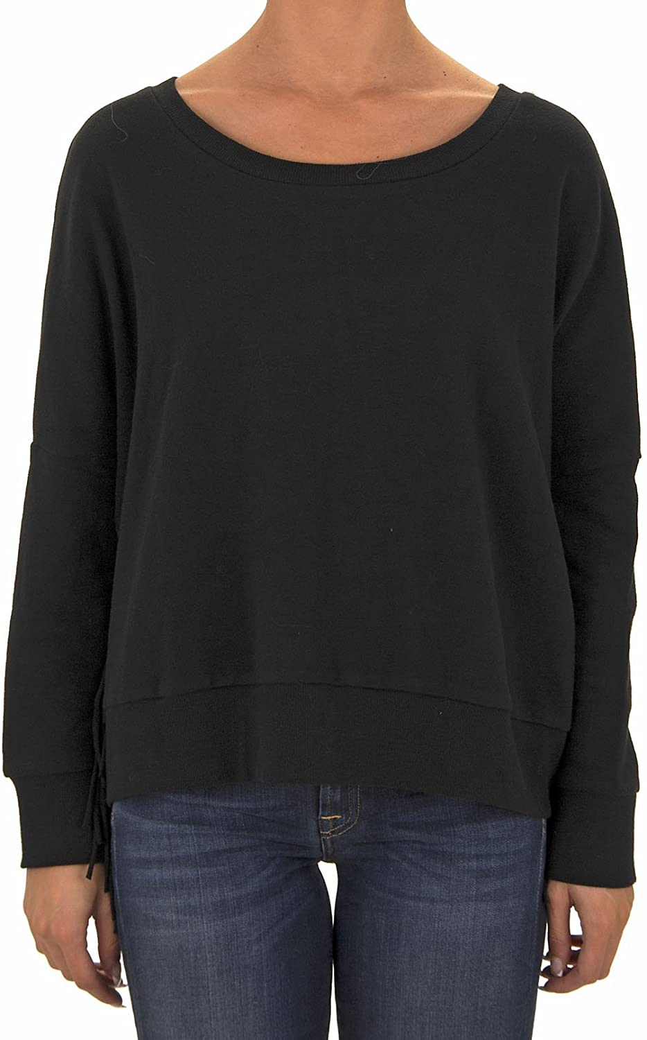 Amuse Society Juniors Ivy Fleece Pull Over Fleece, (SBK) Solid Black