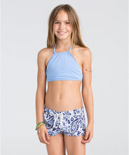 "Load image into Gallery viewer, Billabong Kids Girls' Penny Paisley 1.5"" Volley Shorts (Little Big Kids), Blue Cruz, XS (5/6"