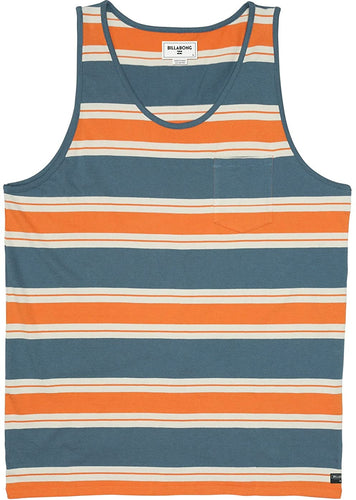 Billabong Men's Trading Post Tank, (SLA) Slate, Size Small