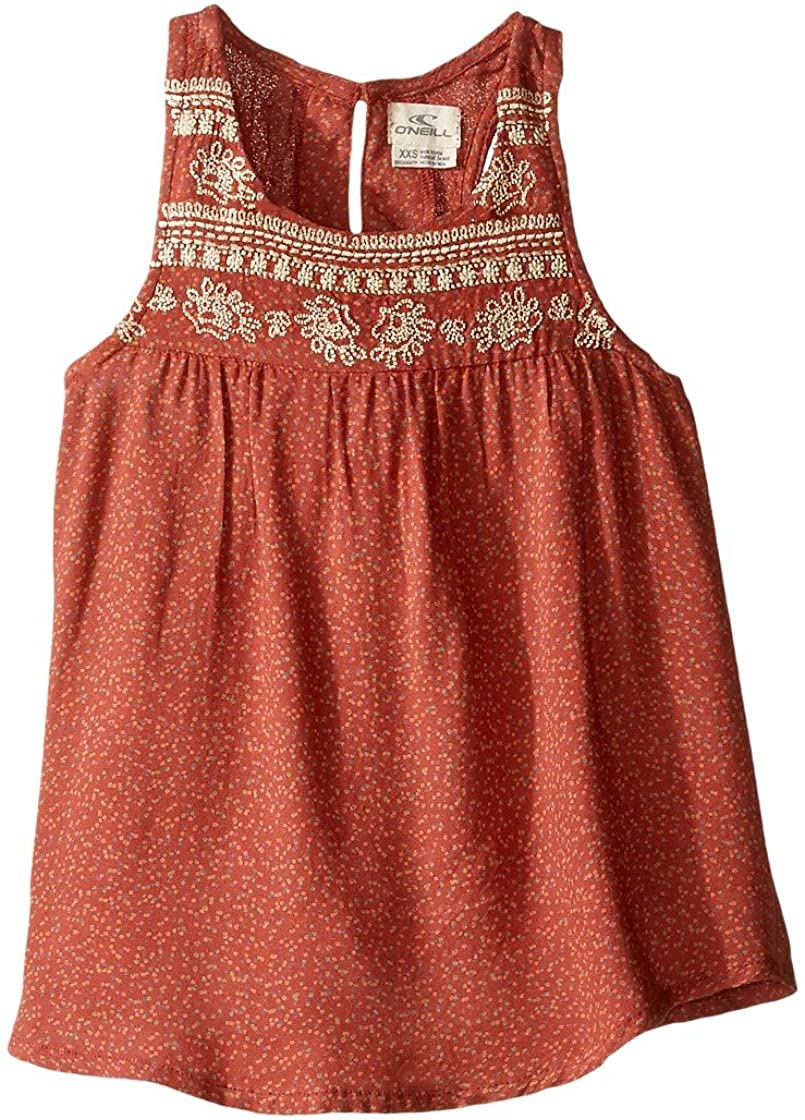 O'Neill Girls Kate Tank Shirt, (RDE) Redwood
