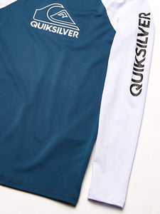 Quiksilver Boys' Big Tour Long Sleeve Youth Rashguard Surf Shirt
