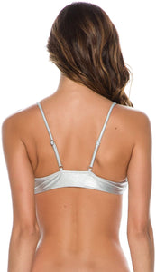Billabong Women's Metallic Beach Trilet Bikini Top