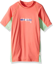 Load image into Gallery viewer, O'Neill Girls Premium Skins Upf 50+ Short Sleeve Rash Guard