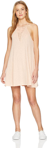 Billabong Women's Ray Me Swing Mini Dress, (NUD) Nude