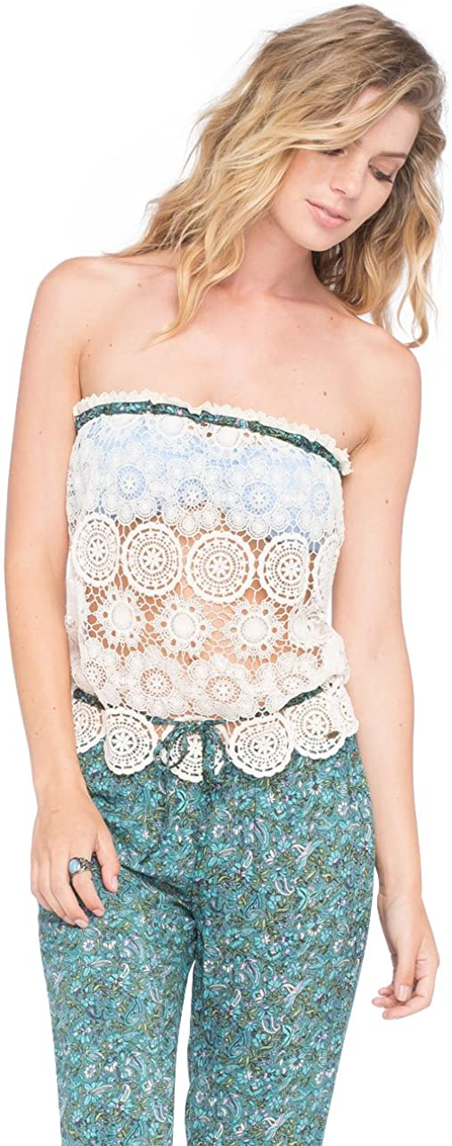 O'Neill Anna Sui Juniors Camisole Tank Top, Naked White (Small)