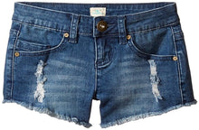 Load image into Gallery viewer, O'Neill Girls Camper Denim Walkshorts, (BLG) Blue Grass Wash, Girls Size 14