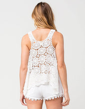 Load image into Gallery viewer, O'Neill Juniors' Mary Jane Crochet Swing Tank Top
