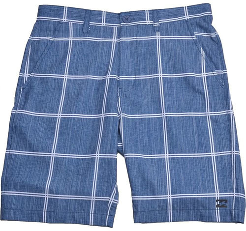 Billabong Boys Atom Plaid Platinum Walk Shorts/Board Shorts, (VBU)