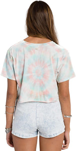 Billabong Juniors No Bad Waves Short Sleeve Crop T, Cool WIP (Small)