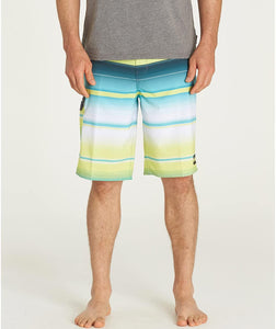 Billabong Men's All Day Stretch Boardshorts, Lime Stripe, 29