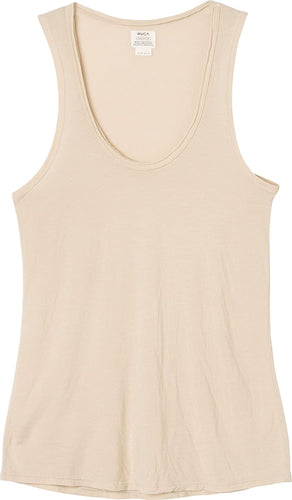 RVCA Women's Baxter Scoop Neck Tank, (NUD) Nude, Size Medium