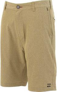 "Billabong Boy's Crossfire X 15"" Walkshort, (GRV) Gravel, Size 23/10 Slim"