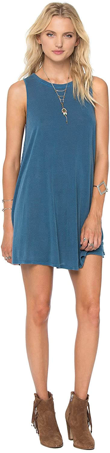 Amuse Society Junior's Alexi Dress, (INB) Indy Blue, Size Small - Indi Surf