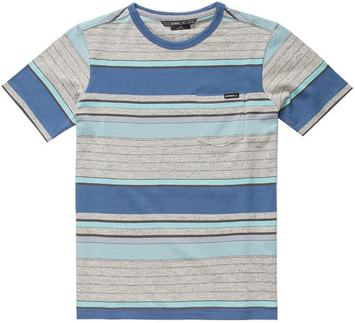 O'Neill Kids Boy's Lewis Short Sleeve Crew Top (Little Kids) Blue T-Shirt MD (5/6 Little Kids)